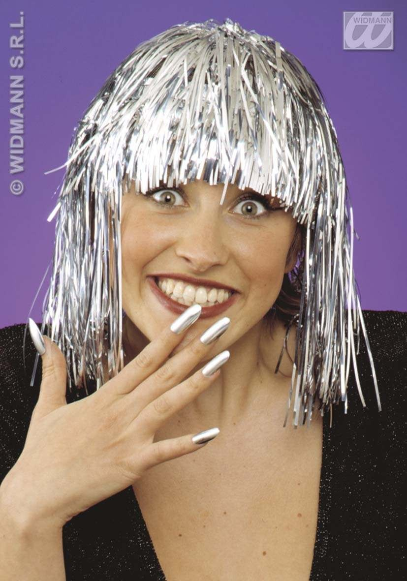 Disco Wig Silver - Fancy Dress (1970S)