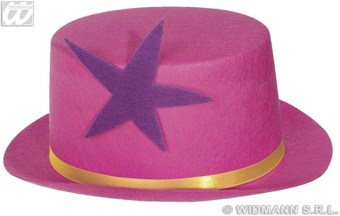 Clown Topper W/Star Neon Felt 4 Col Asstd - Fancy Dress (Clowns)