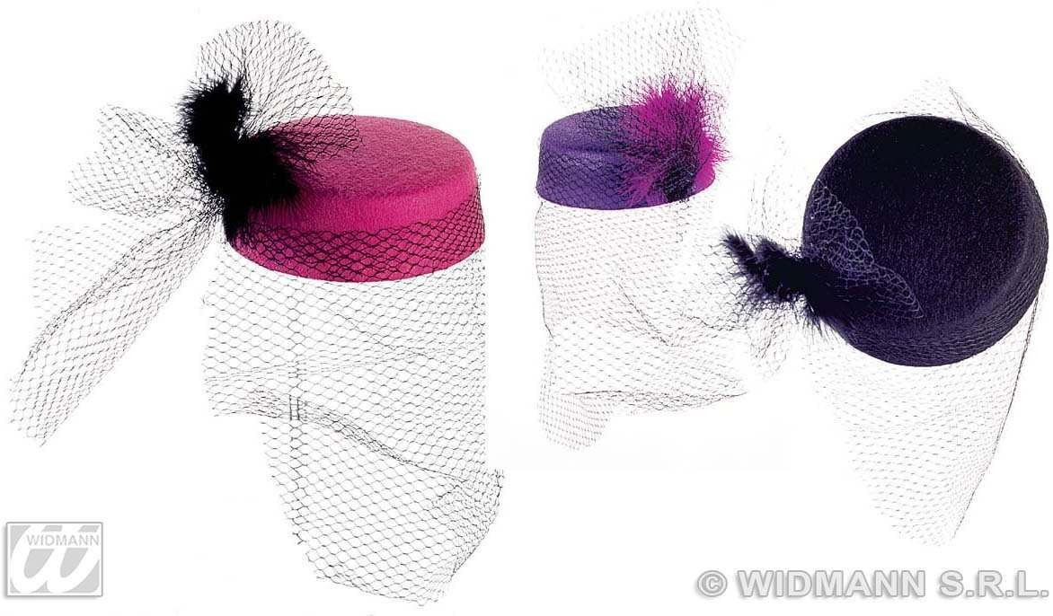 Tina Hat W/Net And Feather - Fancy Dress