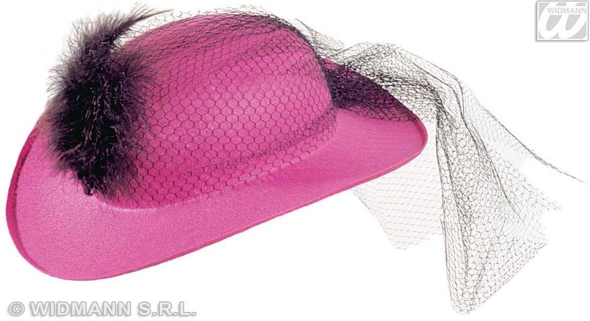 Decorated Felt Clarissa Hat-6 Styles Asstd Fancy Dress