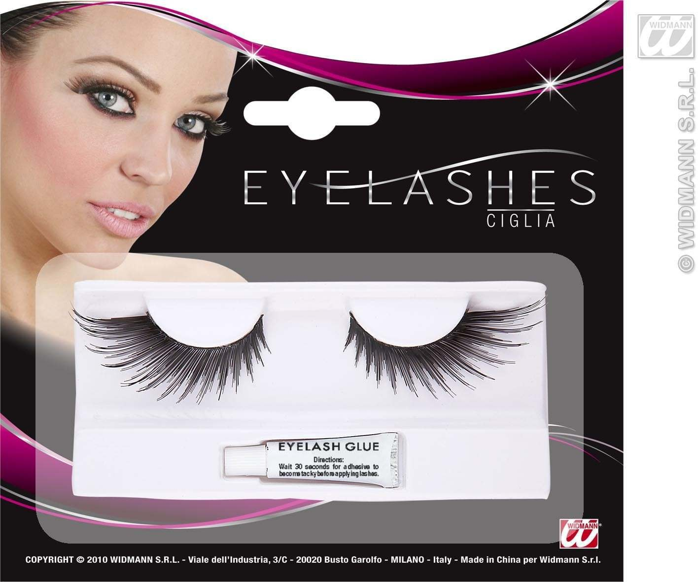 Eyelashes Spiked Wings Shape Black - Fancy Dress
