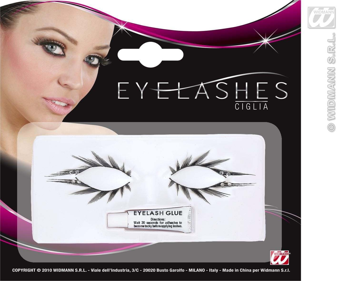 Eyelashes Set Of Upper & Lower W/Strass - Fancy Dress