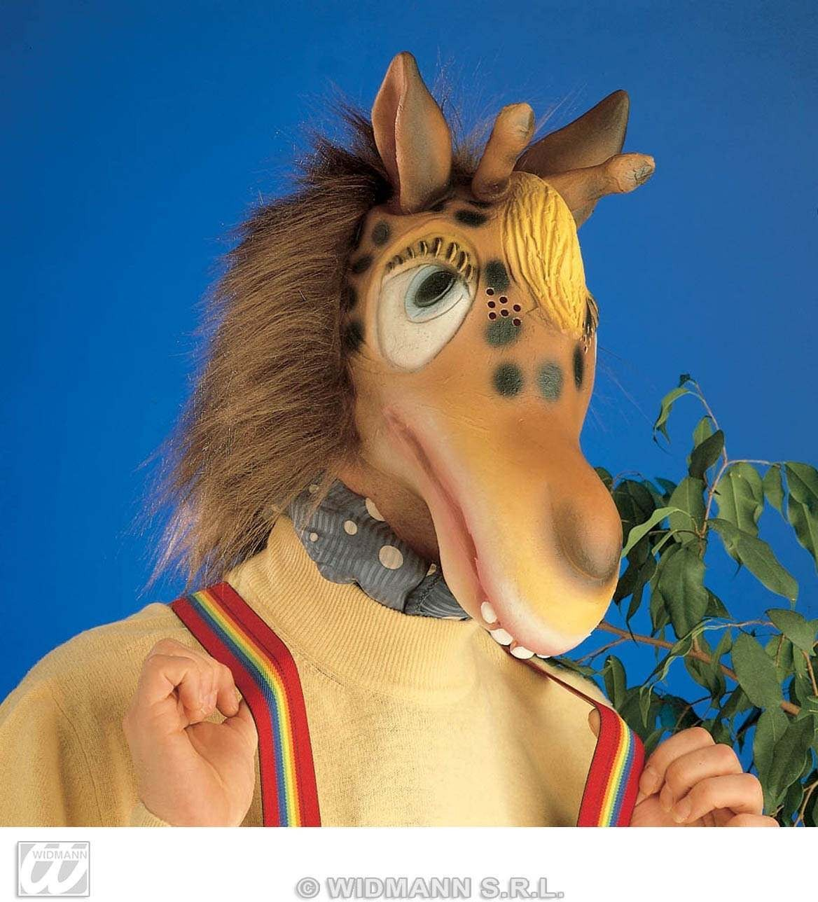 Giraffe Mask With Plush Hair - Fancy Dress (Animals)