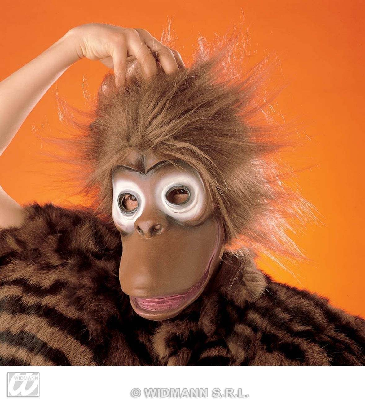 Monkey Mask With Plush Hair Child - Fancy Dress (Animals)