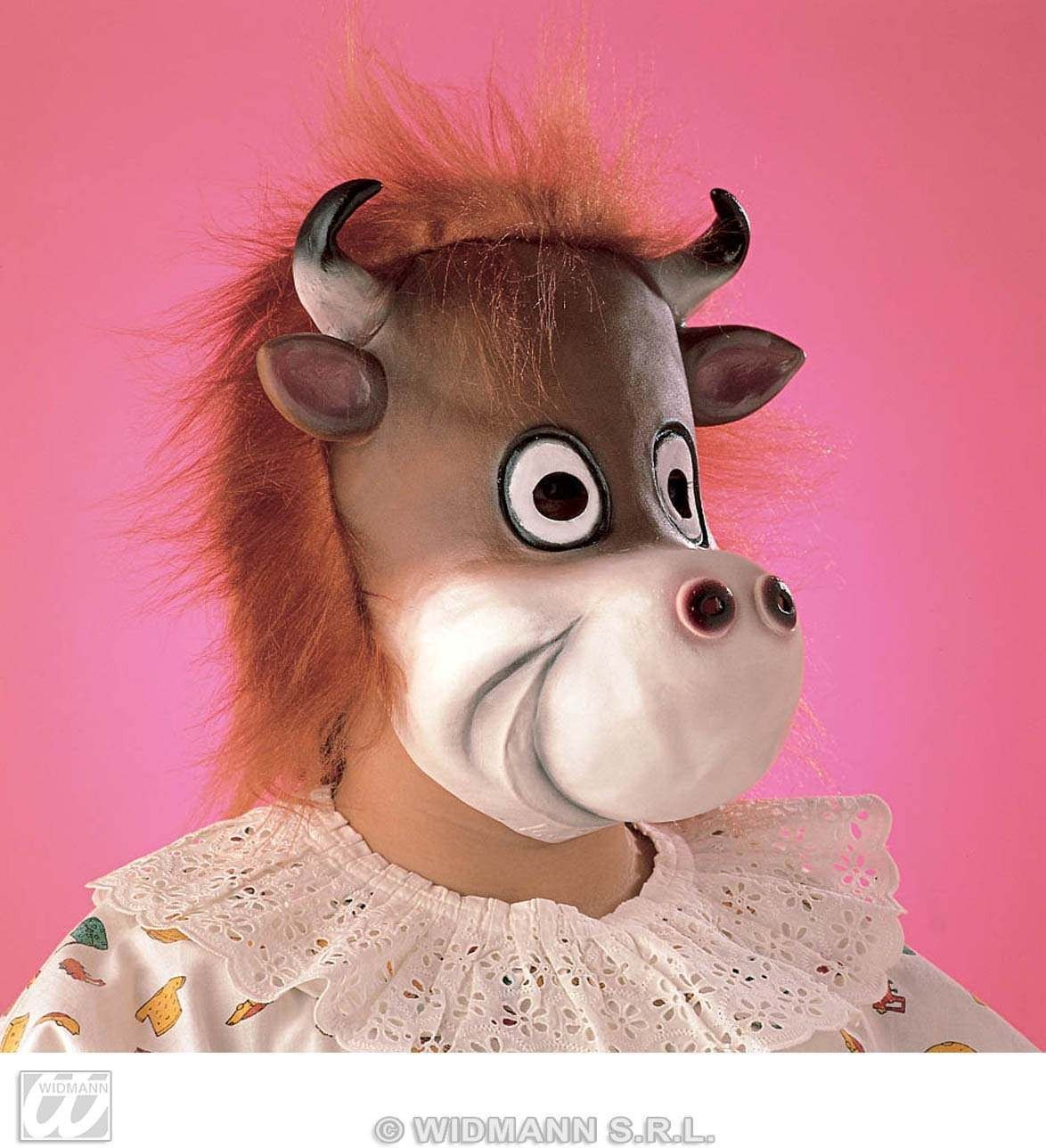Cow Mask With Plush Hair Child - Fancy Dress (Animals)