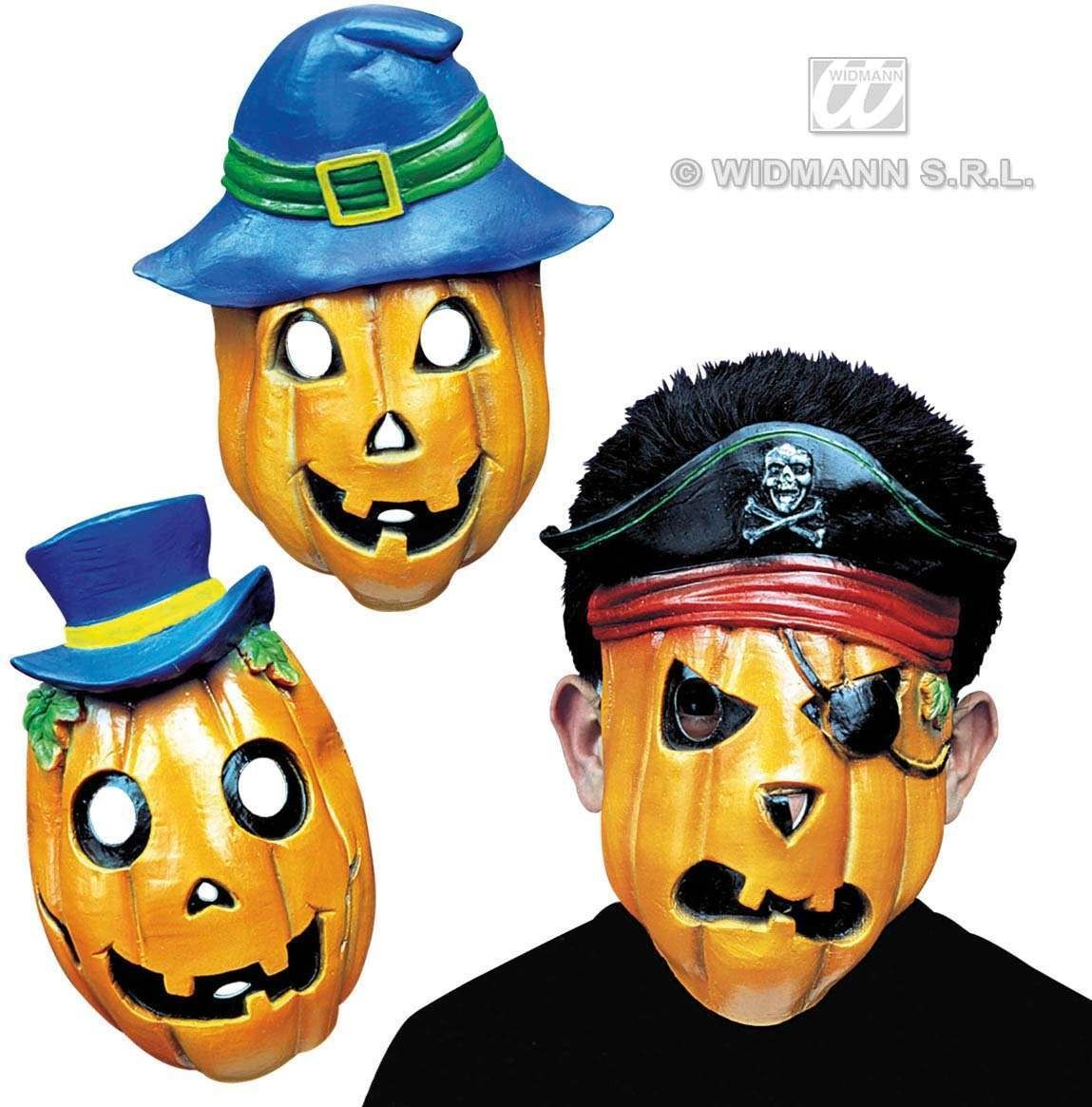 Pumpkin Mask Half Face - Fancy Dress (Halloween)