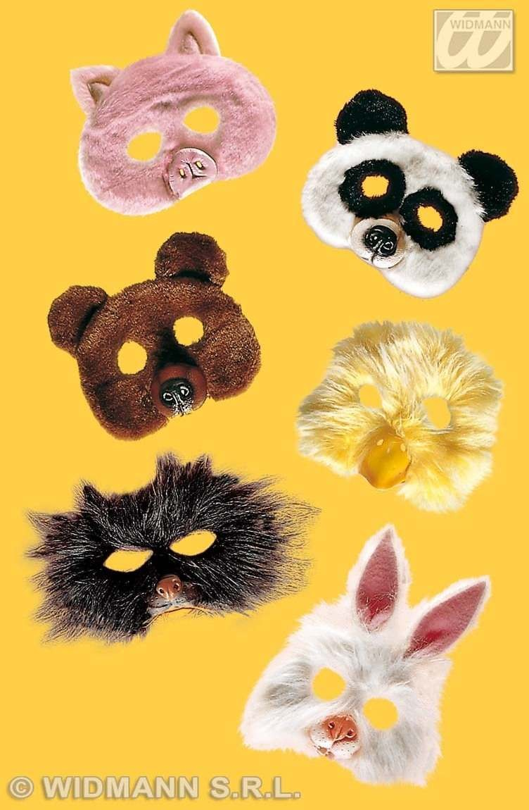 Little Animal Mask Plush - Fancy Dress (Animals)