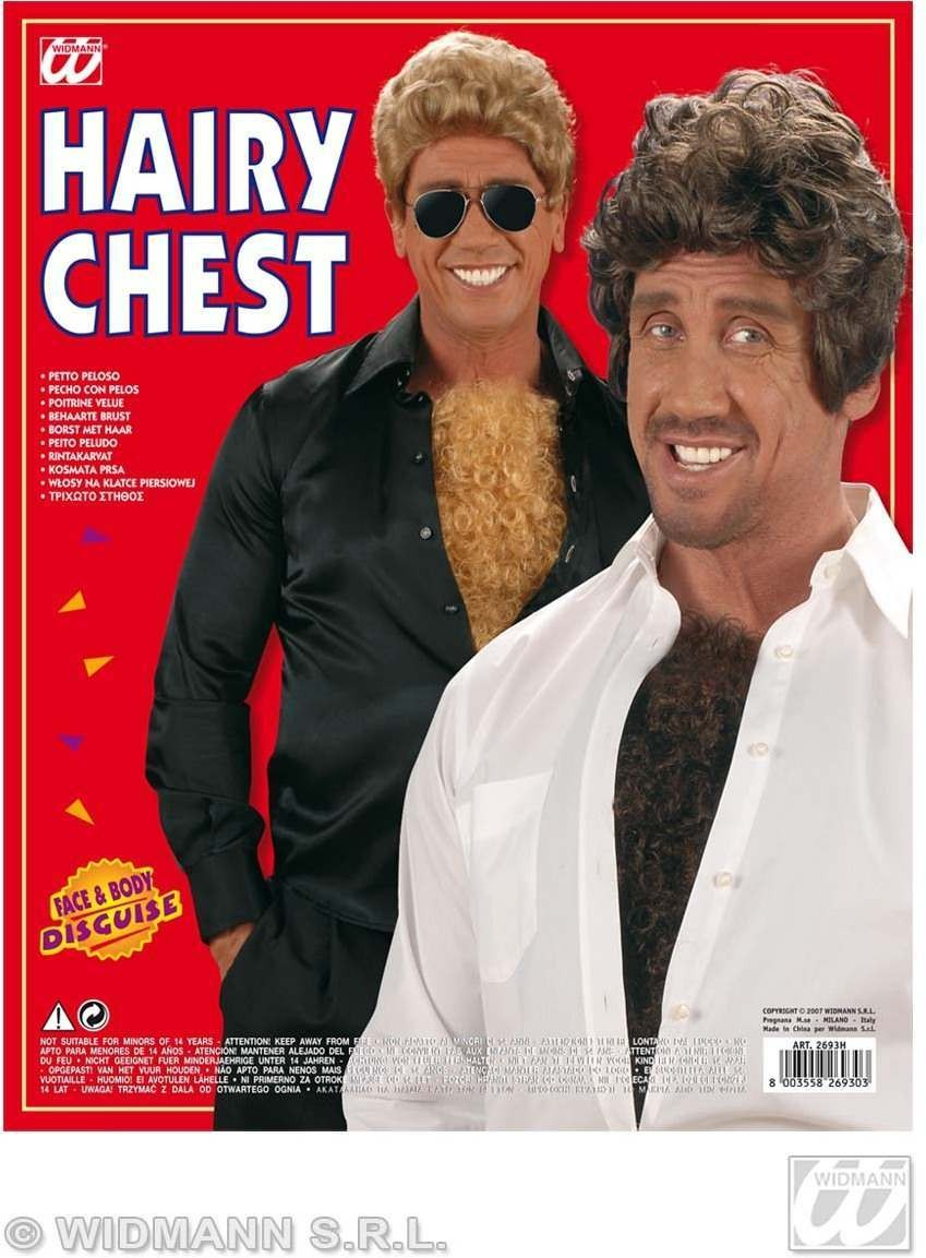 Hairy Chest Blonde/Brown - Fancy Dress
