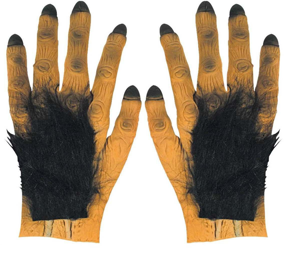 Hairy Dracula Maxi Hands Latex - Fancy Dress (Halloween)