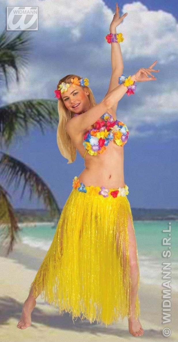Hawaii Set Adult Deluxe Fancy Dress Costume Ladies (Hawaiian)