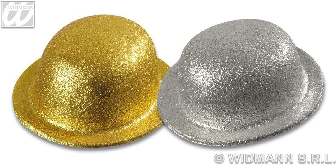 Glitter Bowler Gold / Silver - Fancy Dress