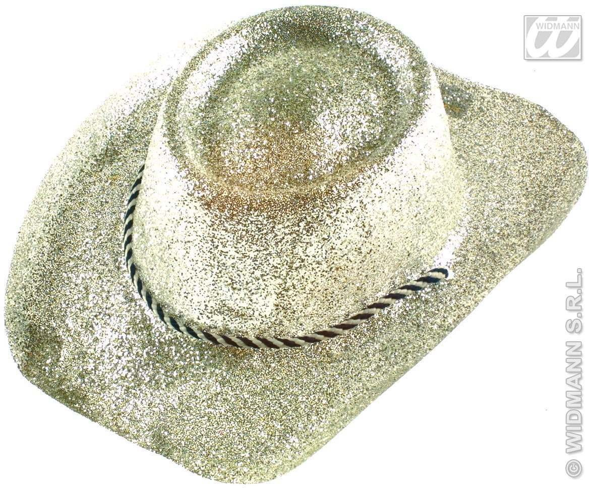 Cowboy Hat Glitter Pvc 3 Colours - Fancy Dress (Cowboys/Indians)