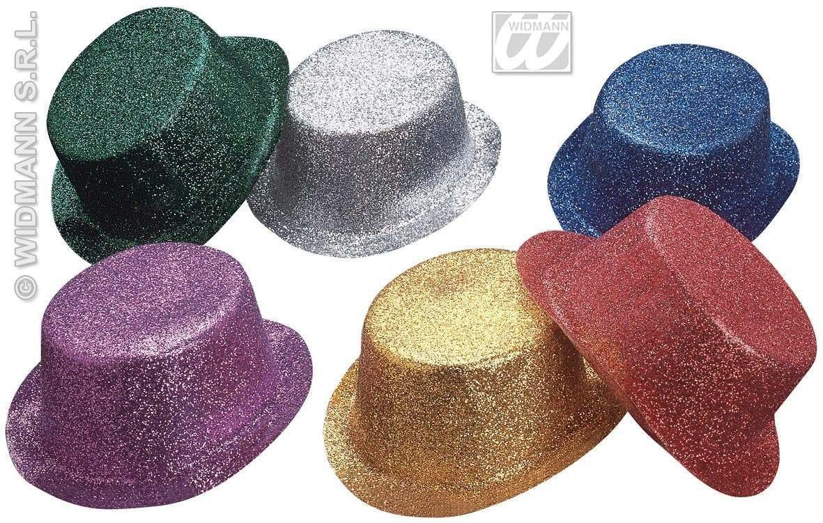 Glitter Top Hat 6 Colours - Fancy Dress