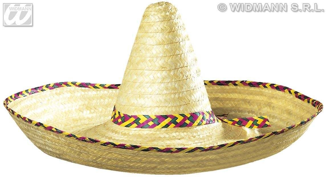 Giant Sombrero Decorated 65Cm - Fancy Dress