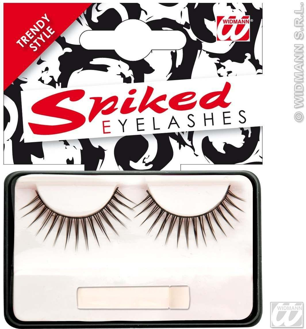 Eyelashes Black Spiked W/Glue Tube - Fancy Dress