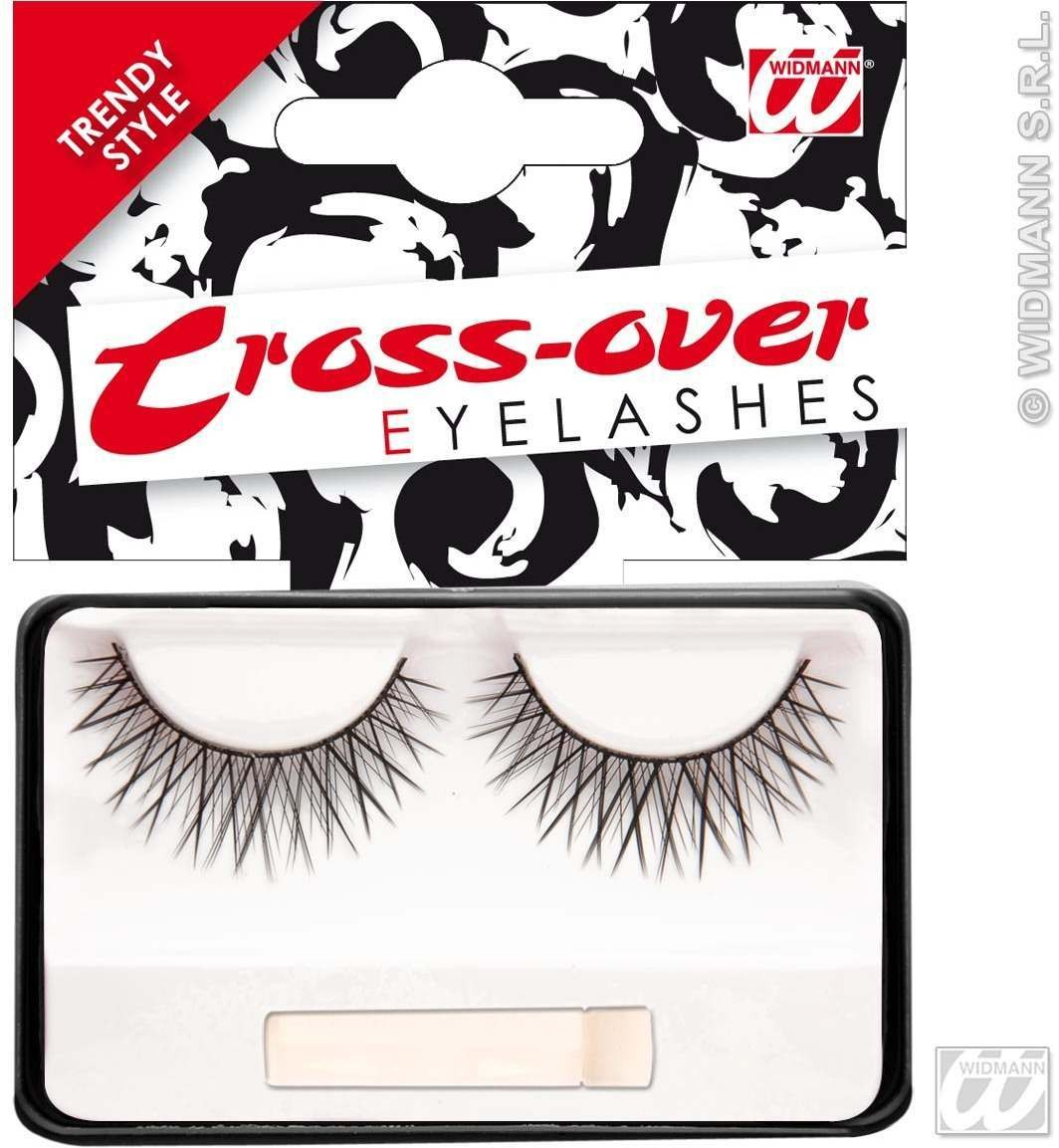 Eyelashes Black Cross Over W/Glue Tube - Fancy Dress