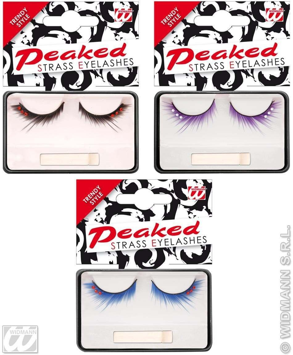 Eyelashes Peaked Strass 3Cols - Fancy Dress