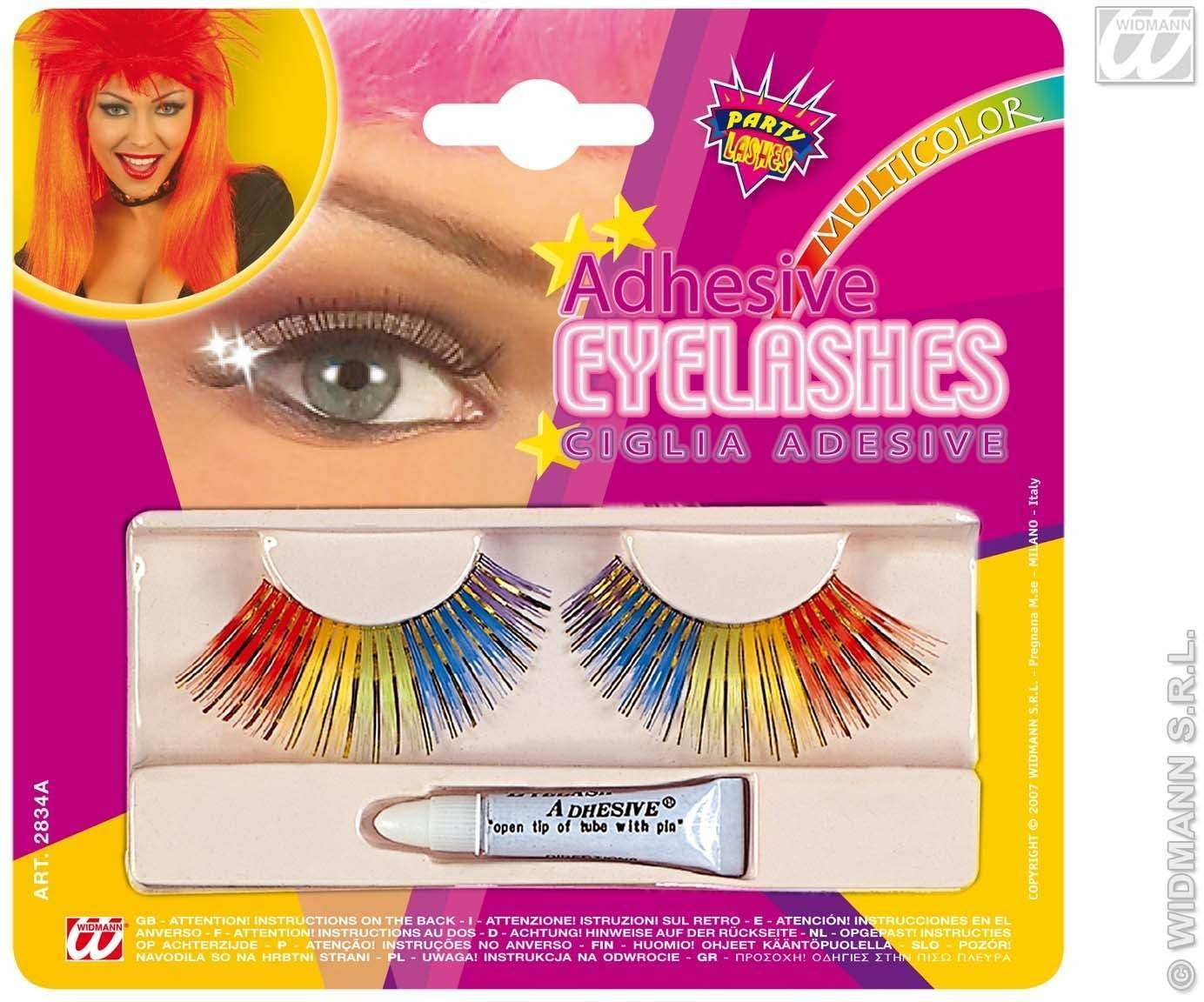 Eyelashes Rainbow With Adhesive - Fancy Dress