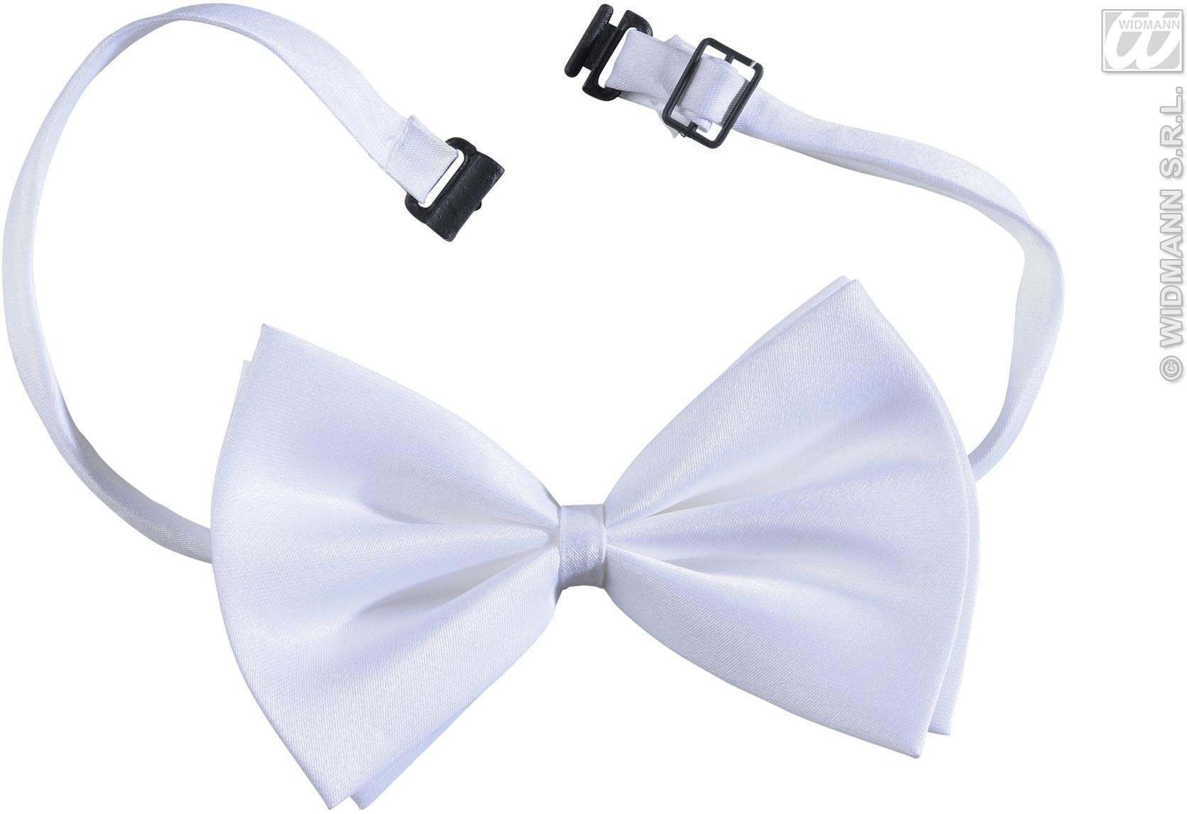 Bow Tie Adjustable Deluxe - White - Fancy Dress
