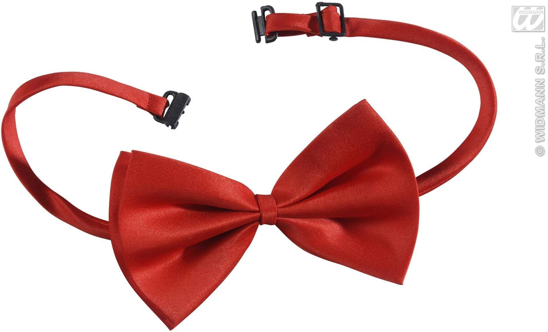 Bow Tie Adjustable Deluxe - Red - Fancy Dress