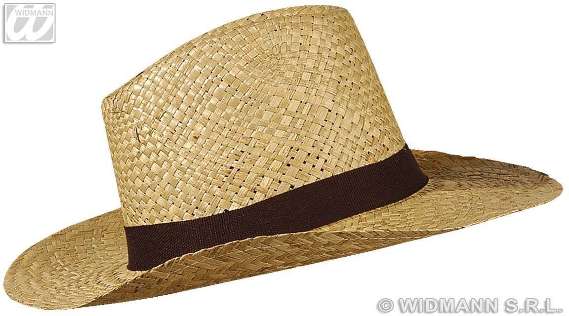 Straw Texas Hat W/Band - Fancy Dress
