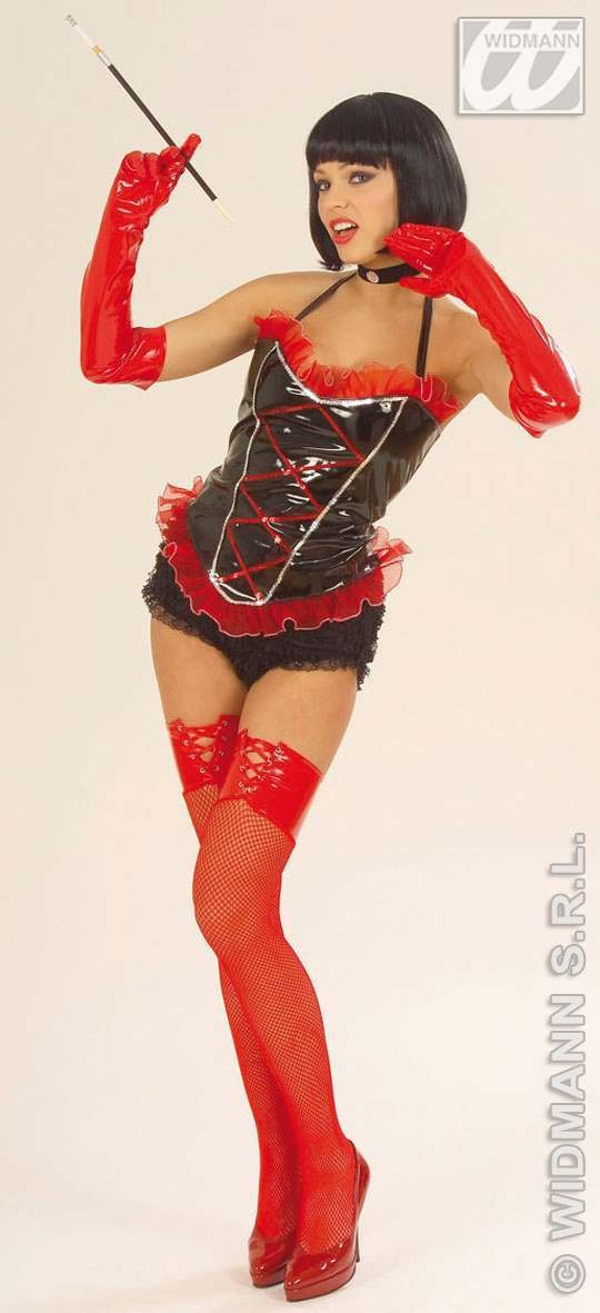 Corset Vinyl 2Cols Fancy Dress Costume