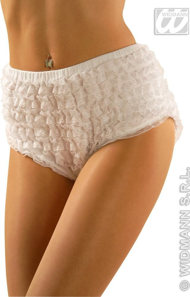 Lace Panties White S/M/L Fancy Dress Costume