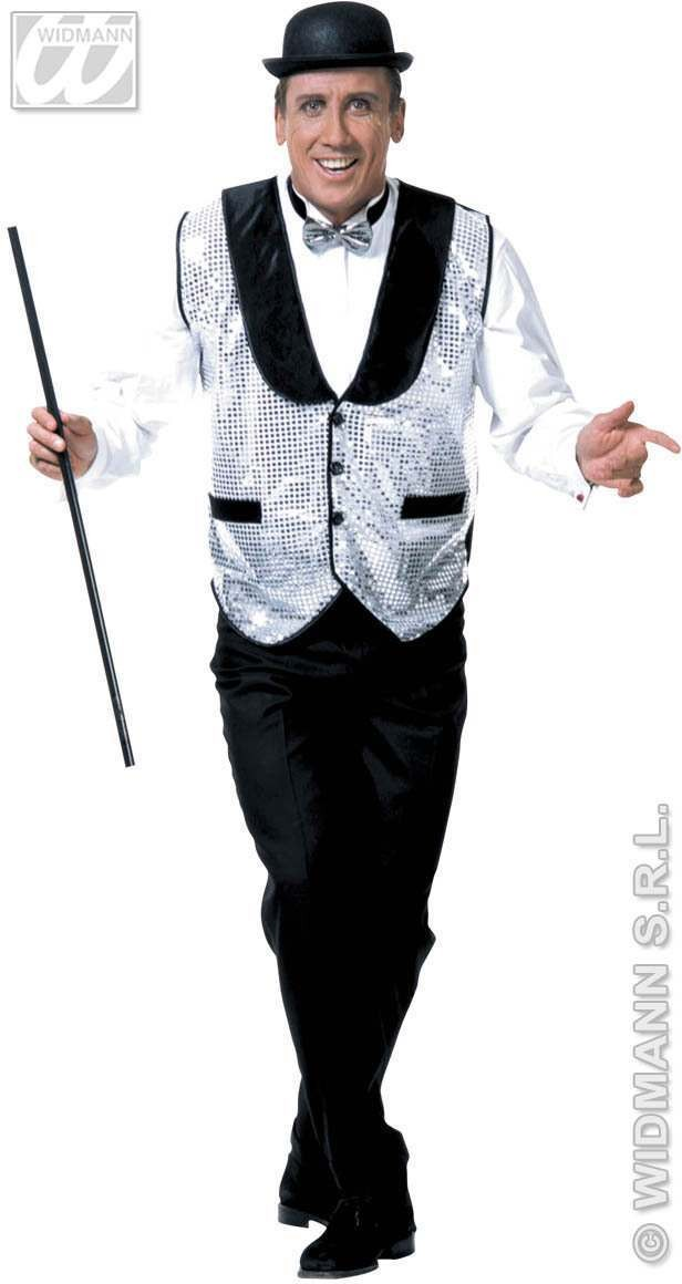 Xl Sequin Waistcoat 3Cols - Fancy Dress