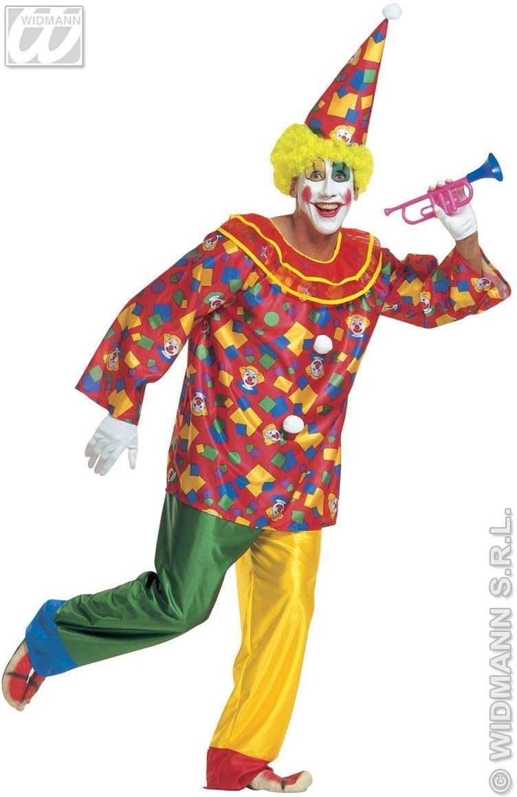 Xl Funny Clown Costume Costume Mens Size 46-48 (Clowns)