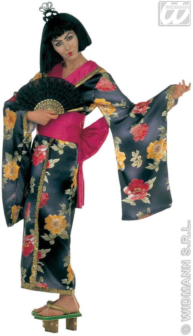 Geisha Floral Adult Fancy Dress Costume Ladies (Oriental)