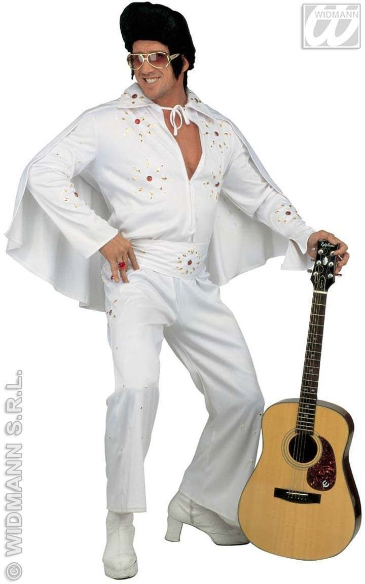 King Of Rock Deluxe Adult Fancy Dress Costume Mens (Music)