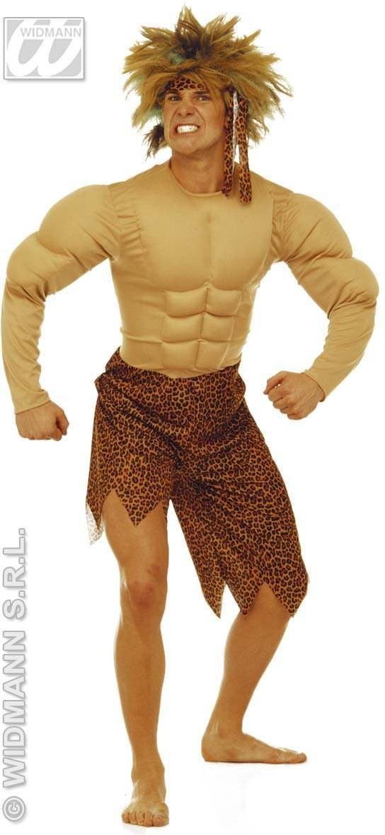 Jungle Man Adult Costume W/Muscles Fancy Dress Costume (Cultures)