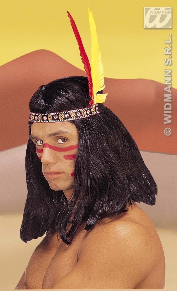 Indian Headress 2 Feathers - Fancy Dress (Cowboys/Indians)