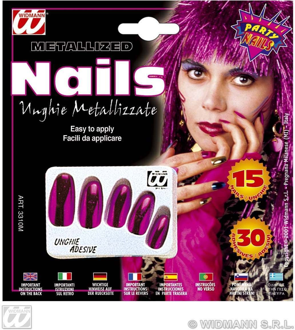 Metallised Nails 5Colours - Fancy Dress