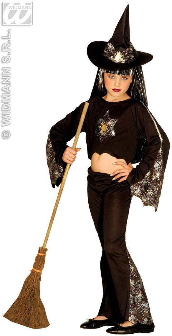 Sparkling Witch With Shirt, Pants, Hat 3Cols Costume (Halloween)