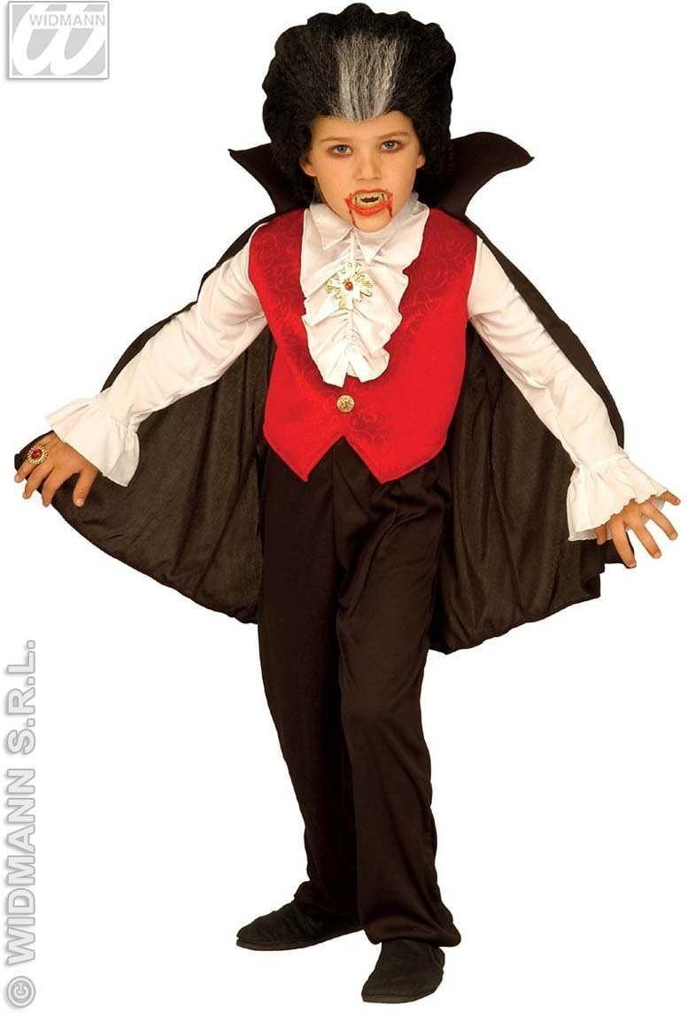 Count Dracula With Shirt W/Vest, Jabot, Pants, Costume (Halloween)