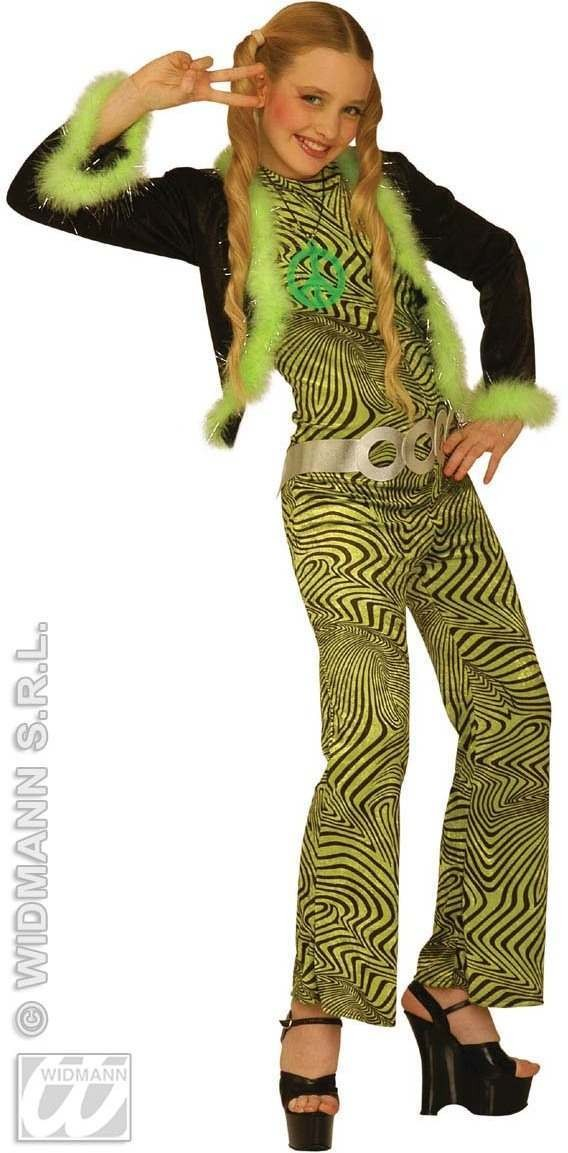 Jazz Trendy Teen Costume Green 8-10 Fancy Dress Costume