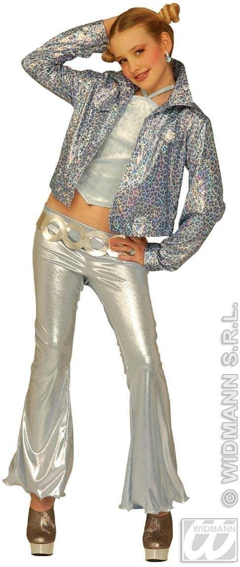 Jazz Pop Star Kids Costume Silver Age 11-13 Costume