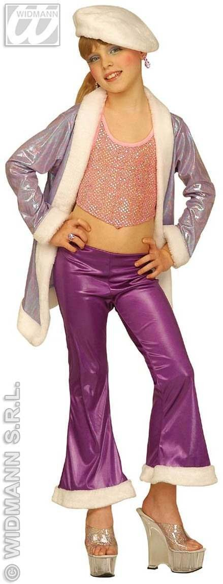 Jazz Funky Teen Costume Purple 8-10 Fancy Dress Costume