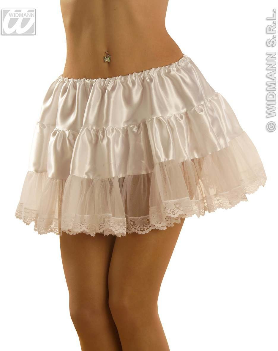 Petticoat Satin / Lace White Fancy Dress Costume