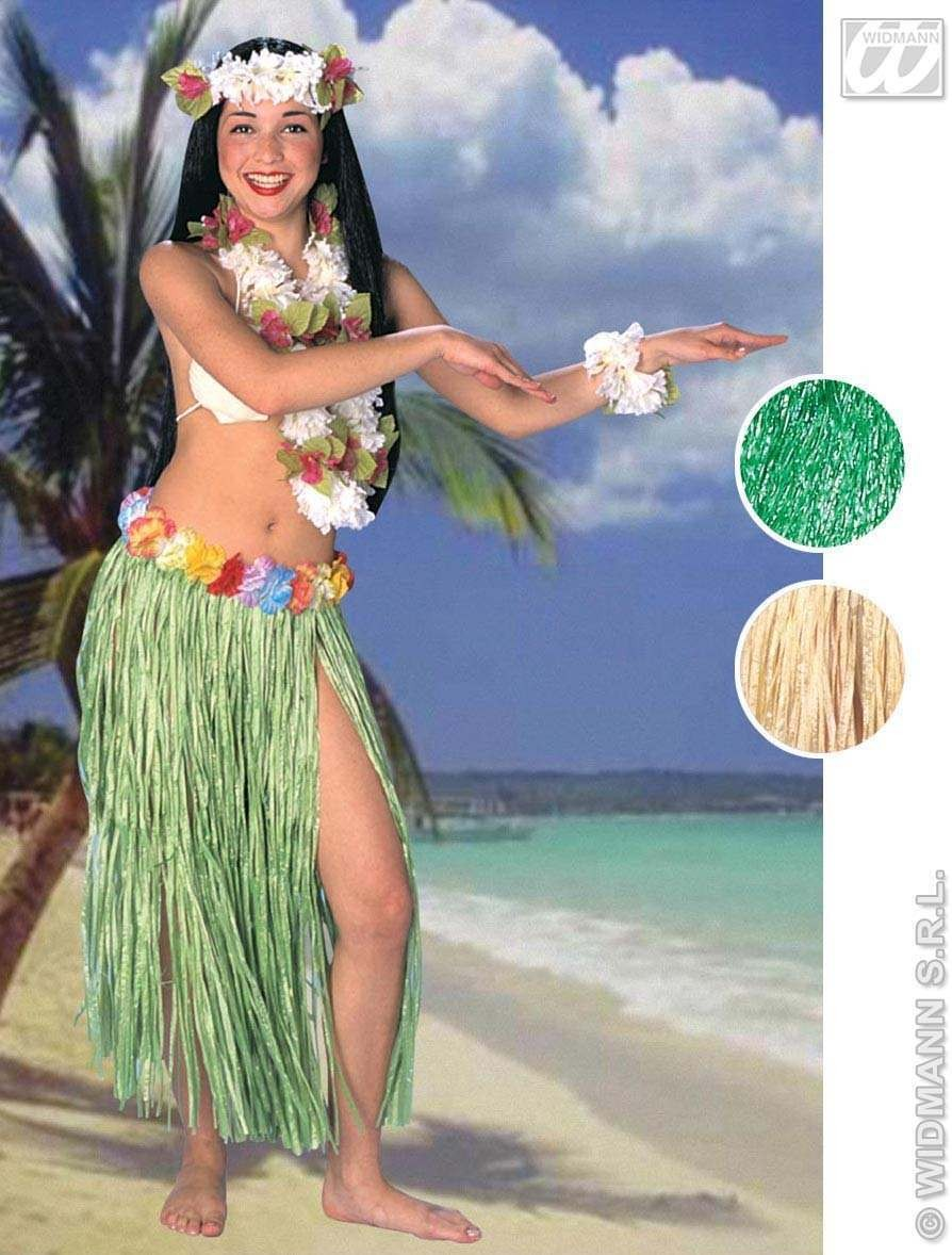 Aloha Hawaiian Skirt Flower Belt 78Cm 2Cols Fancy Dress (Hawaiian)