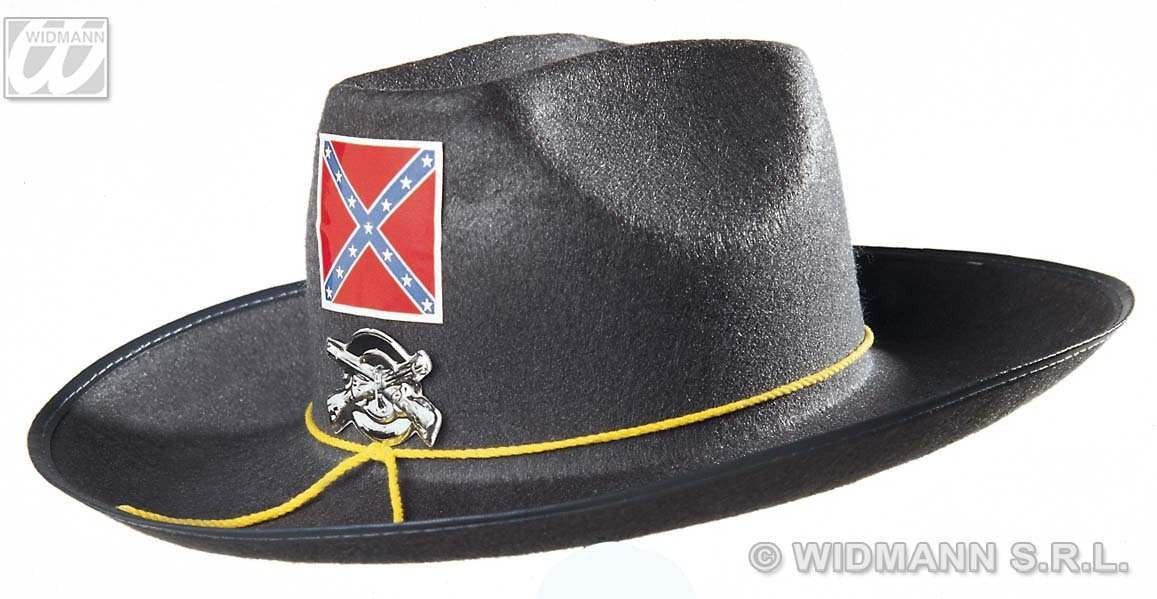 Child Confederate Felt Hat With Badge Fancy Dress
