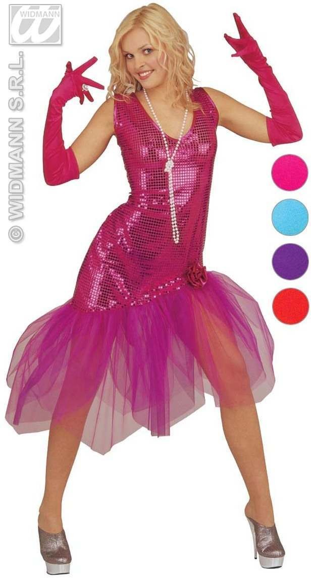 Spandex Satin Gloves Coloured 60Cm - Fancy Dress