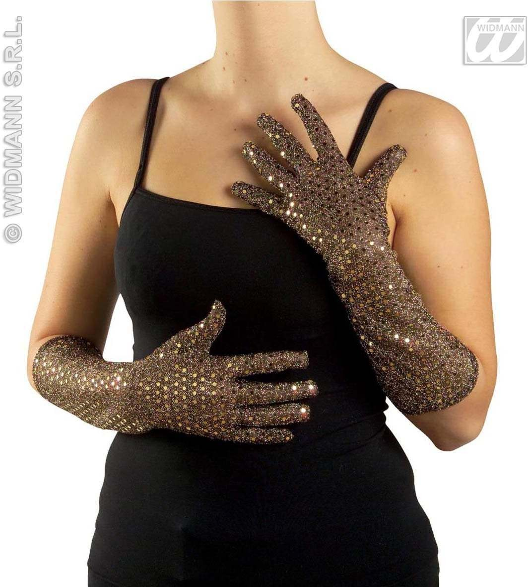 Sequin Gloves Gold/Silver - Fancy Dress