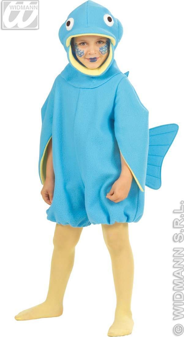 Fish Jumpsuit & Headpiece With 110-116Cm Fancy Dress