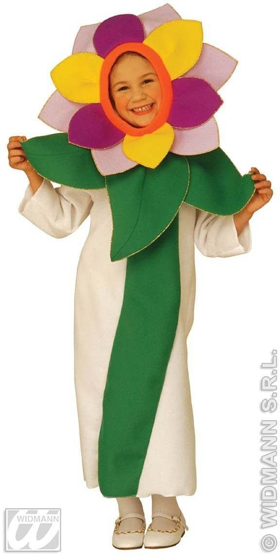 Flower Costume Child Purple/Yellow Age 4-5 Costume