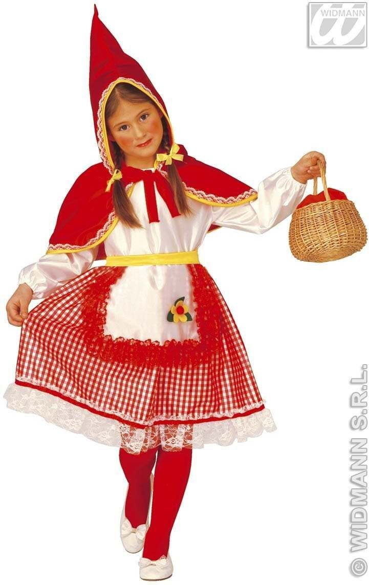 Red Capelet - Dress, Belt, Hooded Capelet Fancy Dress