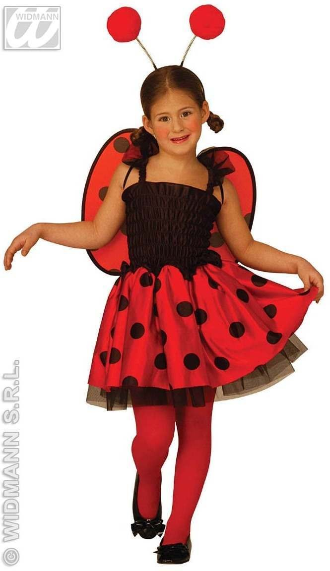 Lady Bug - Dress, Wings, Antennas Fancy Dress Girls