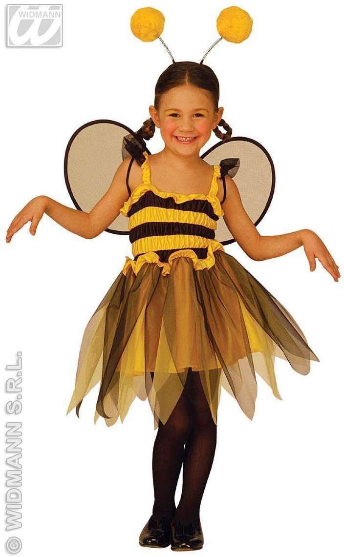 Bee With Dress, Wings, Antennas Fancy Dress Girls