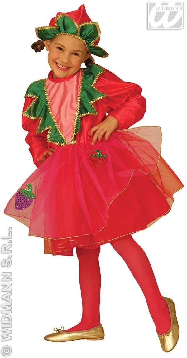 Little Strawberry Costume Child 3-4 Fancy Dress Costume (Food)